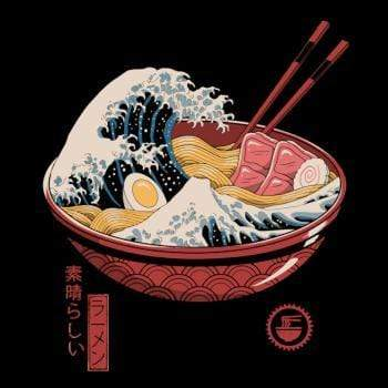 SunFrog-Busted Vincent Trinidad Art Great Ramen Wave