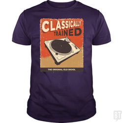 SunFrog-Busted Vladd Classic Guys / Unisex Tee / Purple / S Classically Trained Vintage Turntable