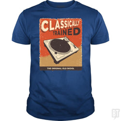 SunFrog-Busted Vladd Classic Guys / Unisex Tee / Royal Blue / S Classically Trained Vintage Turntable