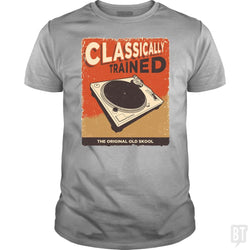 SunFrog-Busted Vladd Classic Guys / Unisex Tee / Sport Grey / S Classically Trained Vintage Turntable