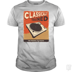 SunFrog-Busted Vladd Classic Guys / Unisex Tee / White / S Classically Trained Vintage Turntable