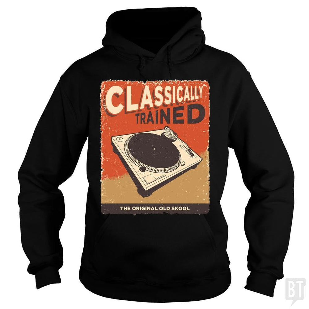 SunFrog-Busted Vladd Hoodie / Black / S Classically Trained Vintage Turntable