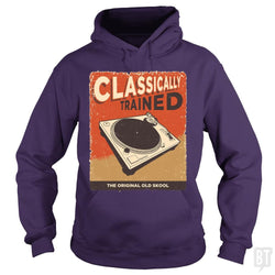 SunFrog-Busted Vladd Hoodie / Purple / S Classically Trained Vintage Turntable