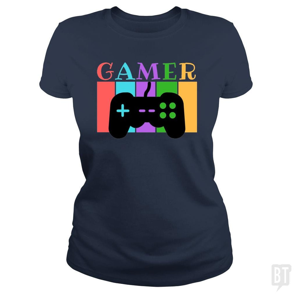 SunFrog-Busted WD650 Classic Ladies Tee / Navy Blue / S Gamer Funny Tshirt