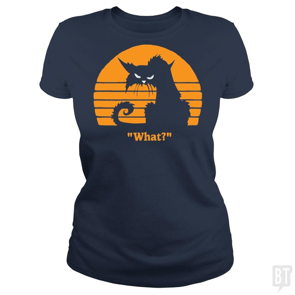 SunFrog-Busted yansdonal189 Classic Ladies Tee / Navy Blue / S What?!