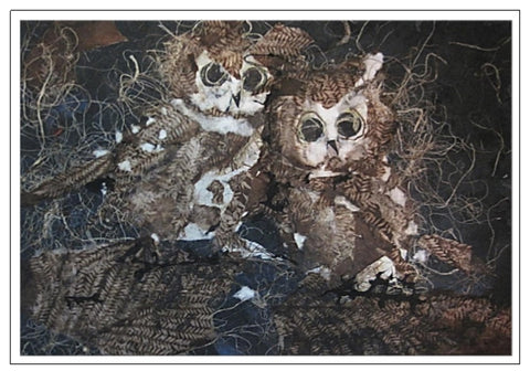 Valerie Taylor Greeting Card w/Envelope - Two Owls    VT144