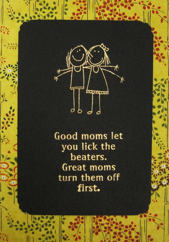 Handmade Gold Embossed Greeting Card by Valerie Taylor   Good Moms