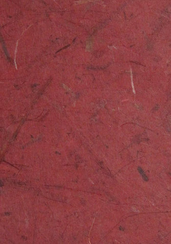 Thai Thailand silk mulberry banana paper deep red
