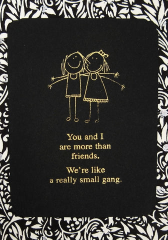 Handmade Gold Embossed Greeting Card by Valerie Taylor   A Small Gang