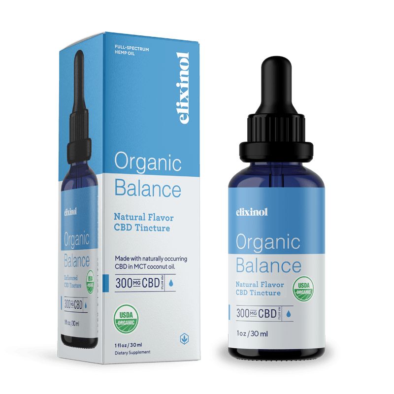 Elixinol 300mg Organic Balance Oil Tincture - Full Spectrum