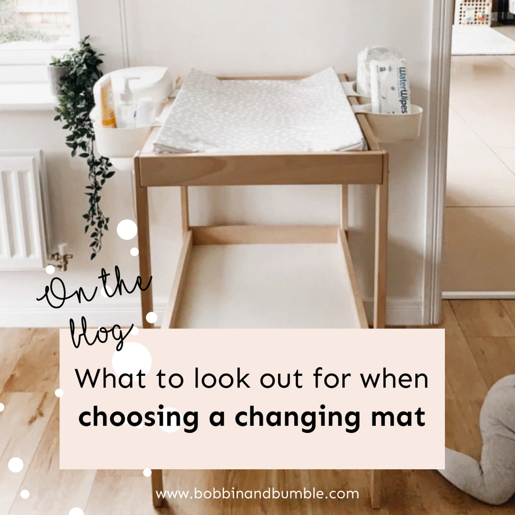 What to look out for when choosing a changing mat