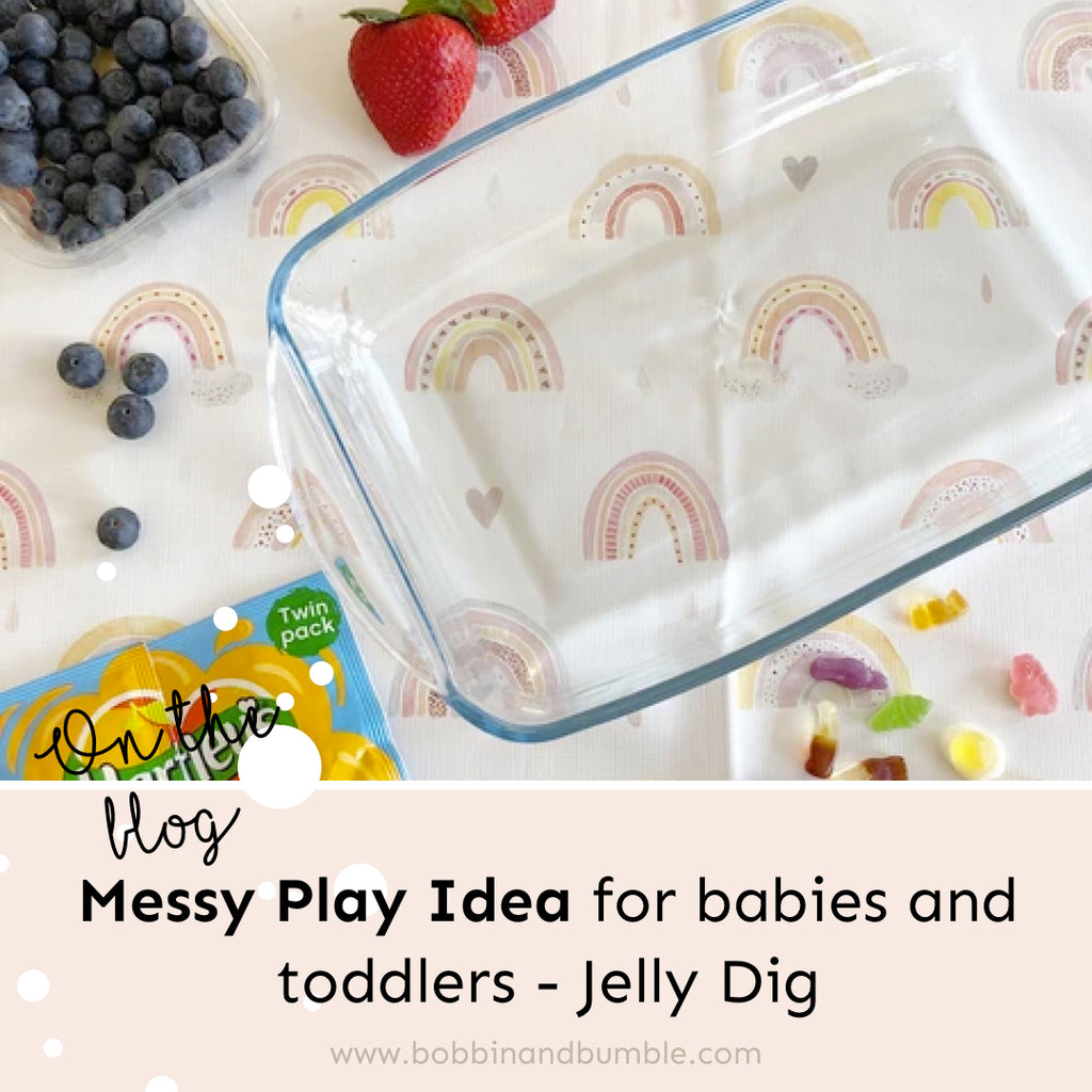 Messy Play Idea for babies and toddlers - Jelly Dig