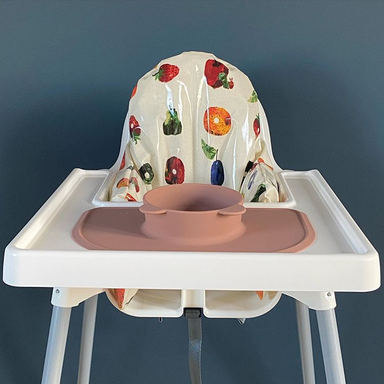 the hungry caterpillar ikea highchair cover in Antilop highchair dark blue dining room