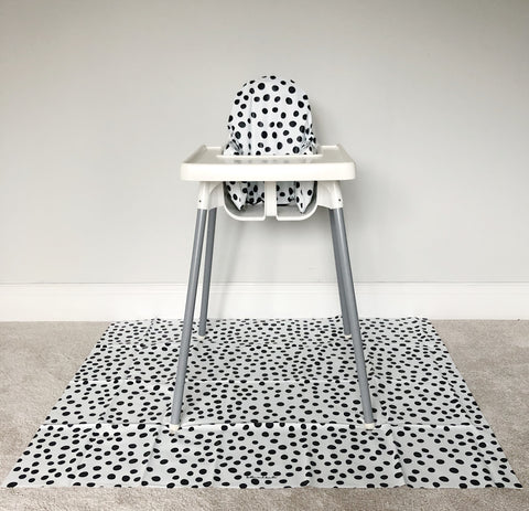 Spotty wipeable IKEA anitlop highchair cover and splash mat