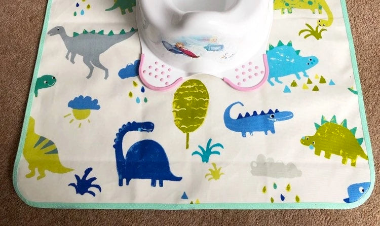 dinosaur potty messy mat