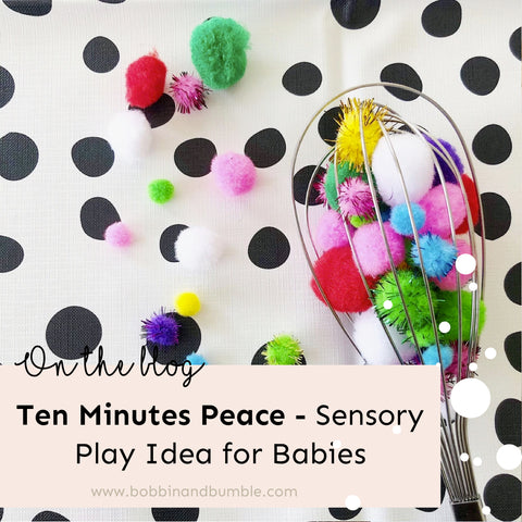 Sensory play ideas for babies and get ten minutes peace!
