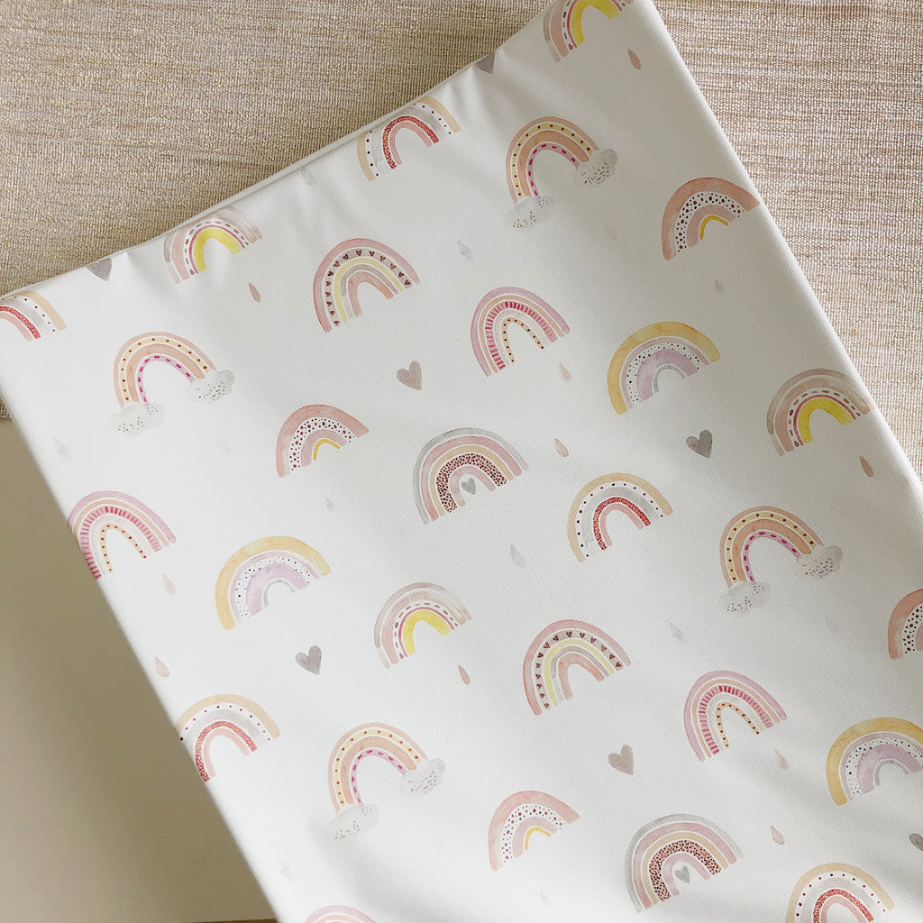 bobbin-and-bumble's Anti-Roll Wedge Changing Mat - Rainbow Beau.