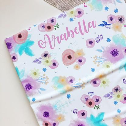bobbin-and-bumble's PERSONALISED Baby Mini / Travel Changing mat - Pink Floral