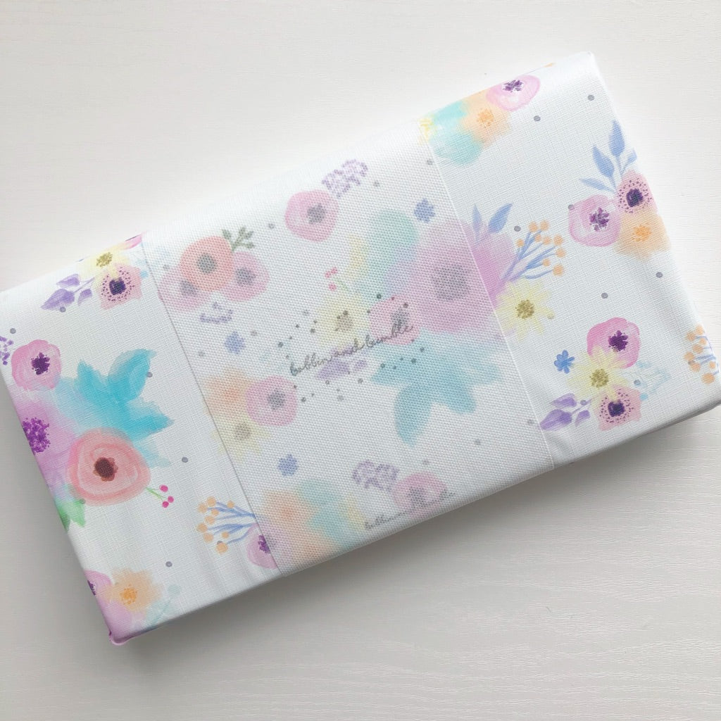 bobbin-and-bumble's Baby Mini / Travel Changing mat - Pink Floral.
