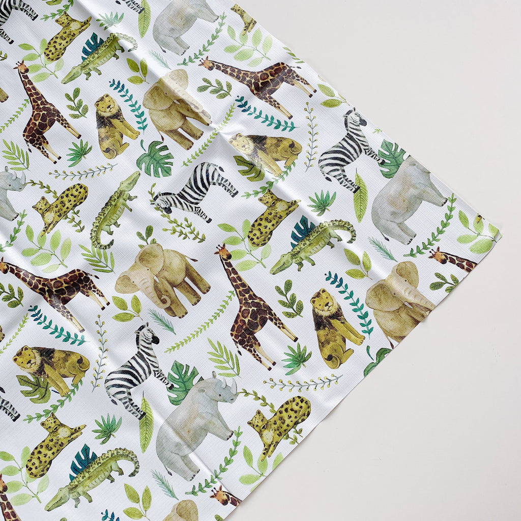 bobbin-and-bumble's Large Baby Splash / Messy Mat -  Safari Animals Jungle Print