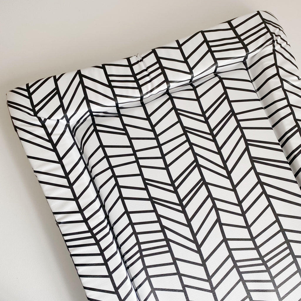 bobbin-and-bumble's Standard Baby Changing Mat - Chevron Print