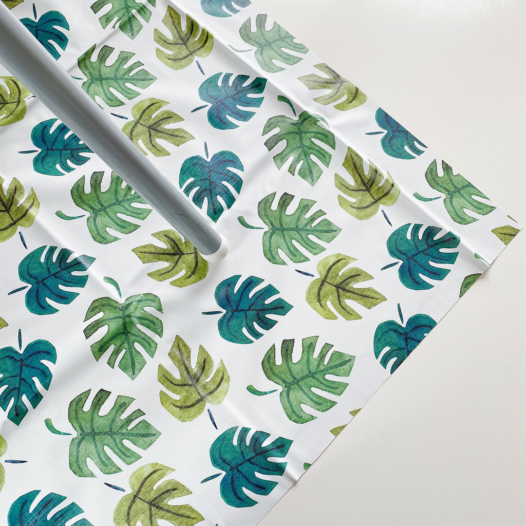 bobbin-and-bumble's Large Baby Splash / Messy Mat -  Monsterra Leaf Print