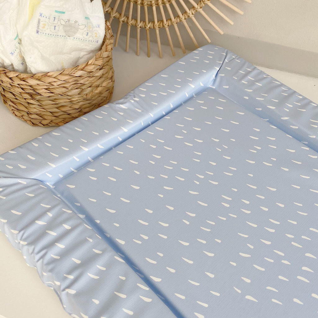 bobbin-and-bumble's Standard Baby Changing Mat - Blue Dash Print