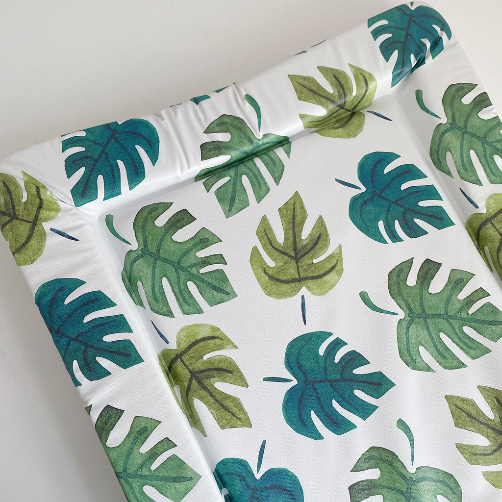 bobbin-and-bumble's Standard Baby Changing Mat - Monstera Leaf Print.