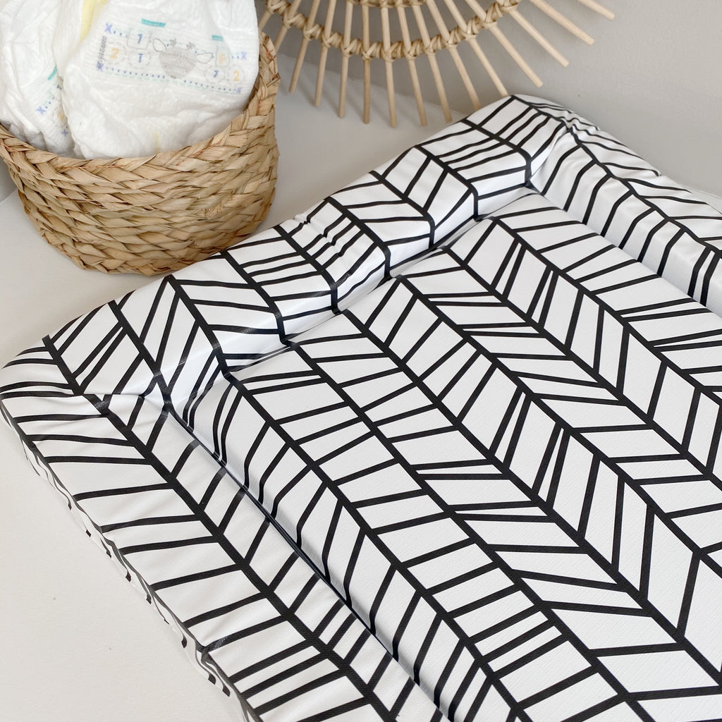 bobbin-and-bumble's Standard Baby Changing Mat - Chevron Print.