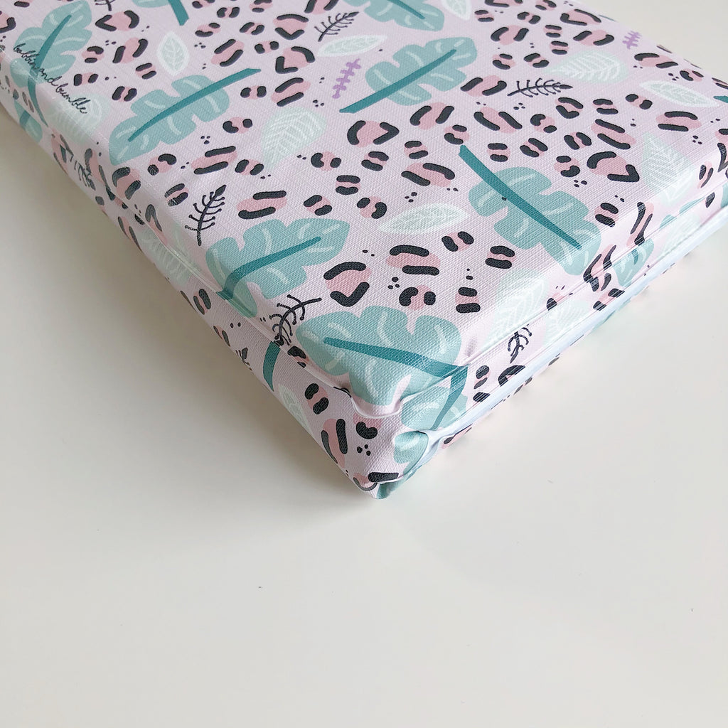 bobbin-and-bumble's Baby Mini / Travel Changing mat - Pink Safari Leopard