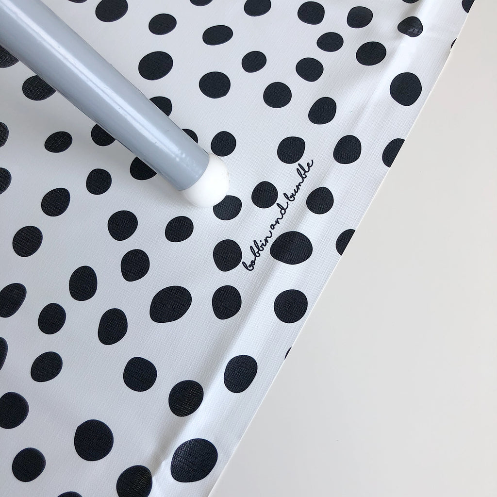 bobbin-and-bumble's Large Baby Splash / Messy Mat - Monochrome Polka Dot.