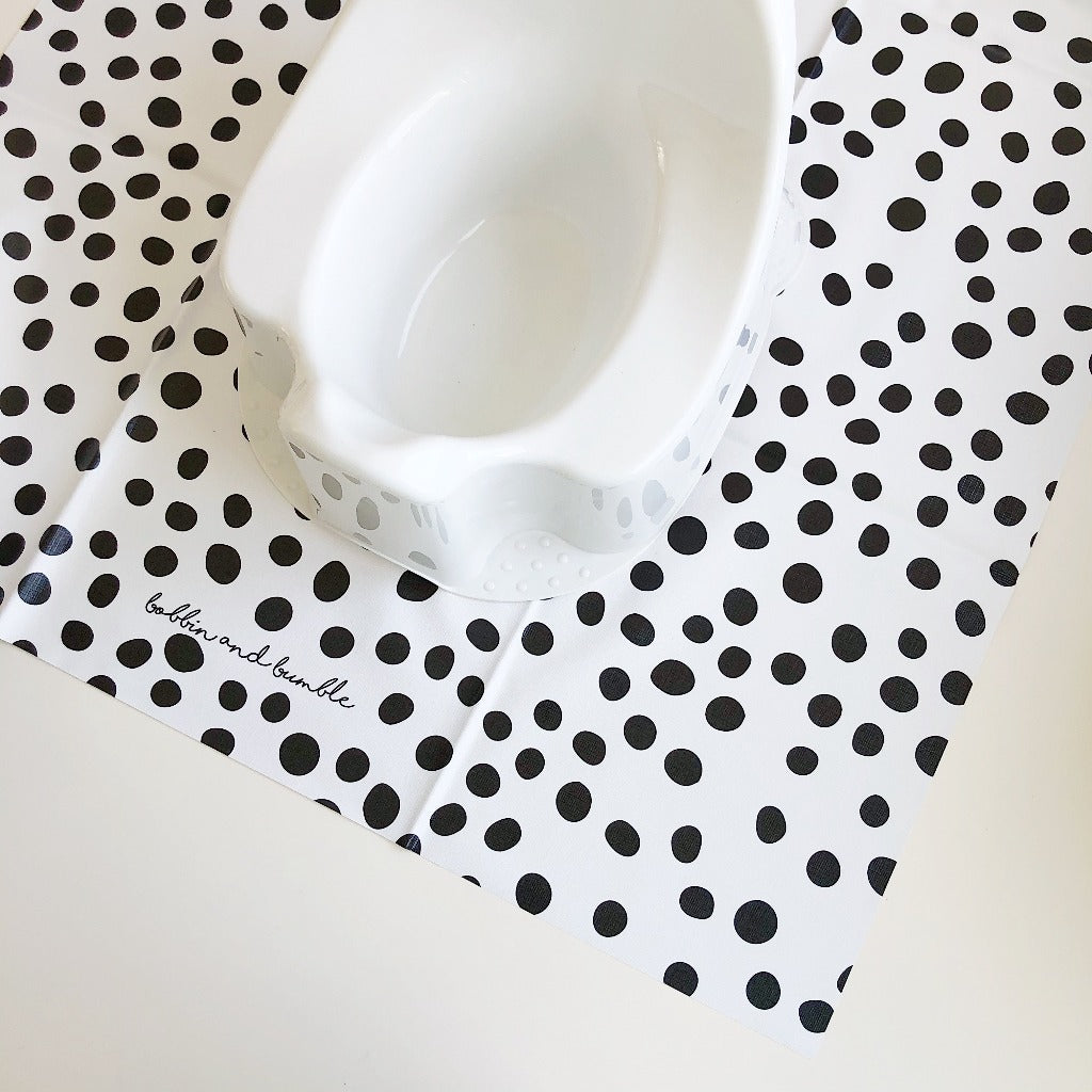 bobbin-and-bumble's Baby Mini Splash / Potty Mat - Dotty Print