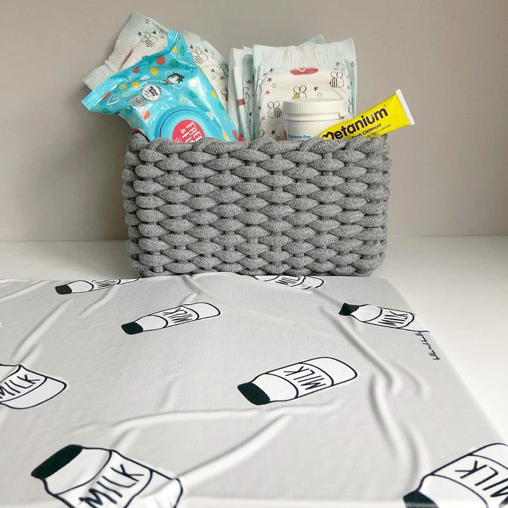 bobbin-and-bumble's Baby Mini / Travel Changing mat - Spilt Milk Print.
