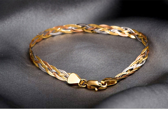 18k Gold Waving Bracelets