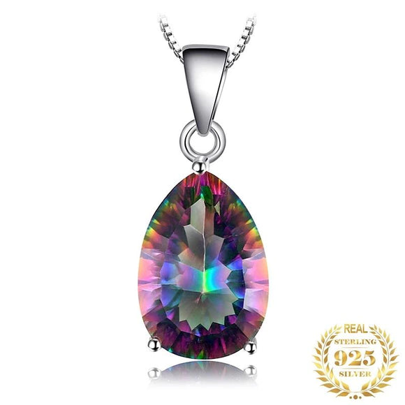 4ct Genuine Multicolor Rainbow Fire Topaz Pendan