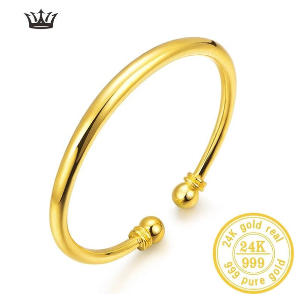 24K Pure Gold Bracelet Real 999 Solid
