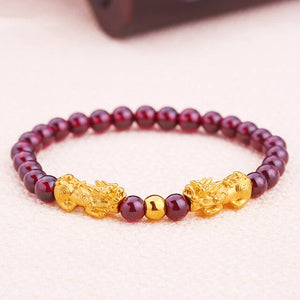 24K Pure Gold Bracelet dragon