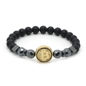 Luxury Bitcoin model2 Bracelet Men Black