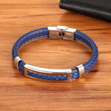 Stainless Steel Multi-color Rectangular Bracelet