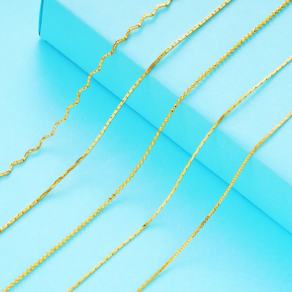 5 model 24K Gold plated Chain NECKLACE