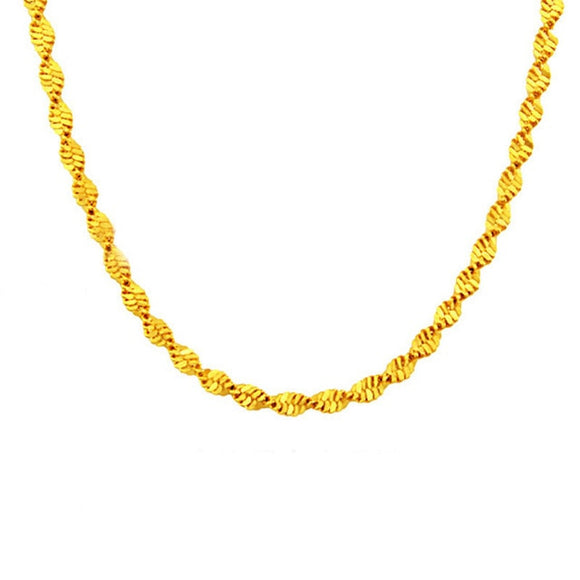 5 Types Necklaces 24K Gold plated