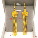 Long Tassel Earrings 24K Gold plated