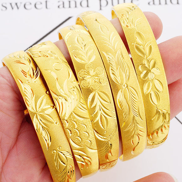 Bracelets 24K Gold plated flowers patron