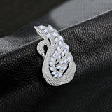 Swan 1.7ct Light Blue Spinel Pendant 925 Sterling Silver