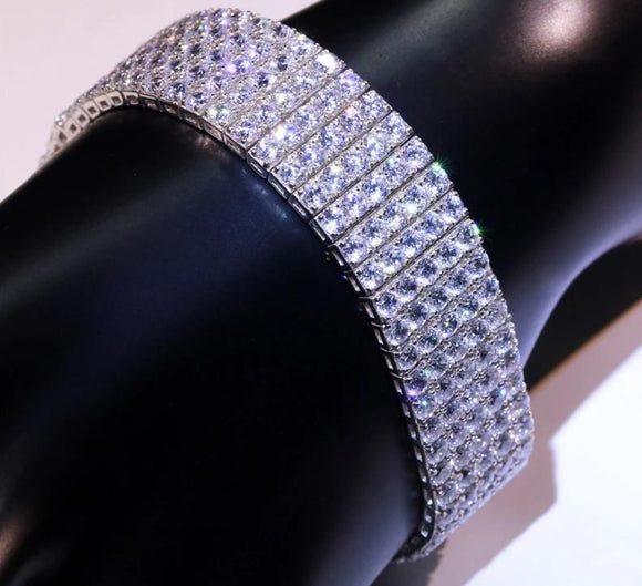 Luxury Bracelets Moissanite Diamond