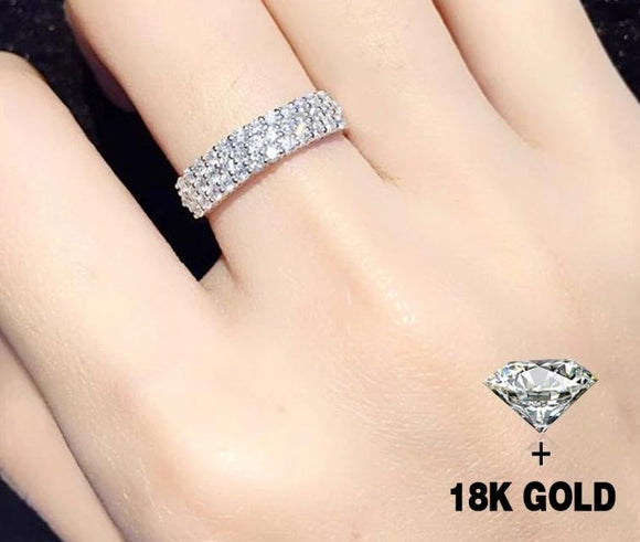 Diamond Ring 18K white Gold Fine