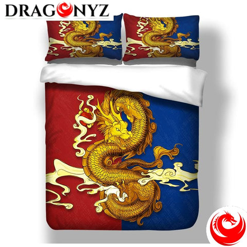 DRAGON BEDDING - ORIENTAL GOLDEN