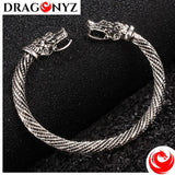 DRAGON BRACELET GOLD AND SILVER COLOURED