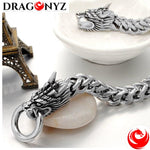 DRAGON BRACELET -SOLID SILVER PLATED