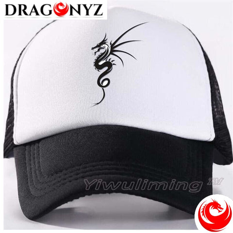 DRAGON CAP - BLACK AND WHITE